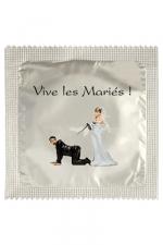 Préservatif humour - Vive Les Mariés - Préservatif Vive Les Mariés, un préservatif personnalisé humoristique de qualité, fabriqué en France, marque Callvin.