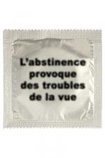 Préservatif humour - Abstinence - Préservatif Abstinence, un préservatif personnalisé humoristique de qualité, fabriqué en France, marque Callvin.