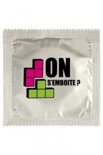 Préservatif humour - On S'emboite - Préservatif On S'emboite, un préservatif personnalisé humoristique de qualité, fabriqué en France, marque Callvin.