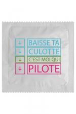 Préservatif humour - Baisse Ta Culotte - Préservatif Baisse Ta Culotte, un préservatif personnalisé humoristique de qualité, fabriqué en France, marque Callvin.