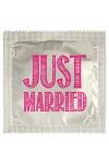 Préservatif humour - Just Married - Préservatif Just Married, un préservatif personnalisé humoristique de qualité, fabriqué en France, marque Callvin.