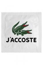 Préservatif humour - J'accoste - Préservatif J'accoste, un préservatif personnalisé humoristique de qualité, fabriqué en France, marque Callvin.