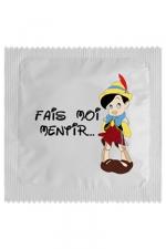 Préservatif humour - Fais Moi Mentir - Préservatif  Fais Moi Mentir, un préservatif personnalisé humoristique de qualité, fabriqué en France, marque Callvin.