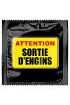 Préservatif humour - Attention Sortie D'engins - Préservatif Attention Sortie D'engins, un préservatif personnalisé humoristique de qualité, fabriqué en France, marque Callvin.