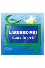 Préservatif humour - Laboure Moi Dans Le Pré - Préservatif Laboure Moi Dans Le Pré, un préservatif personnalisé humoristique de qualité, fabriqué en France, marque Callvin.