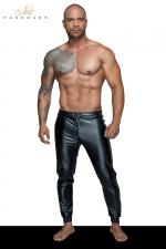 Treggings wetlook H063 - Un pantalon en wetlook moulant, serré aux chevilles, le sexy sportswear pour homme.