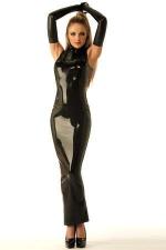 Robe Sirène zippée en latex - Robe forme Sirène en latex véritable, zippée dans le dos.