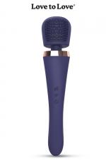 Vibro wand Brush Crush - Love To Love - Un stimulateur wand puissant et maniable, équipé d'une tête plate et texturée offrant de multiples stimulations.