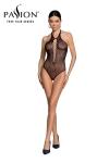 Body string résille BS088 - Noir - Lingerie noire body fantaisie résille de la marque Passion.