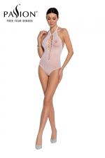 Body string résille BS088 - Blanc - Lingerie blanche body fantaisie résille de la marque Passion.